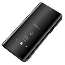 Clear View Notesz Tok Mirror Hivásmutató Funkcióval Huawei P30 Lite Fekete