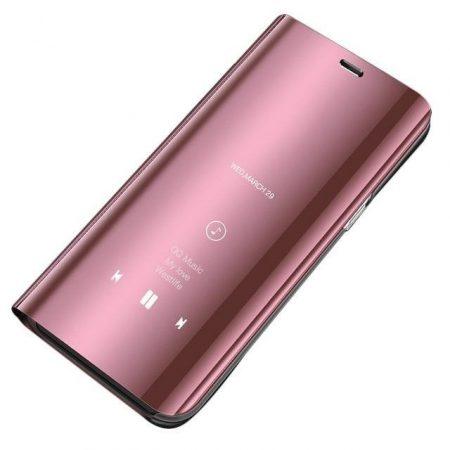 Clear View Notesz Tok Mirror Hivásmutató Funkcióval Xiaomi Redmi Note 7 Pink