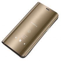 Clear View Notesz Tok Mirror Hivásmutató Funkcióval Samsung Galaxy A20e Arany