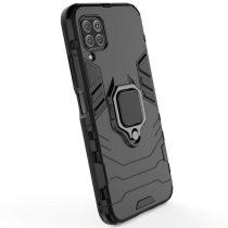 Huawei P40 Lite Armor Védőtok Ütésállókivitel Kitámasztható - Gyűrűs Fekete