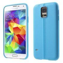 Samsung Galaxy S5 Szilikon Tok Varrás Mintával Világoskék