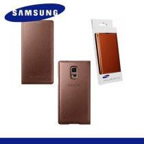 Samsung Galaxy S5 Mini Tok álló, bőr (FLIP, akkufedél, oldalra nyíló) Aranybarna EF-FG800BFEG