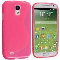 Samsung Galaxy S4 Szilikon Tok TPU S-Line Pink
