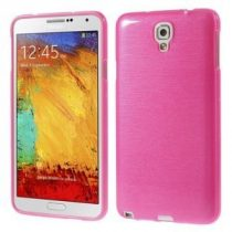 Samsung Galaxy Note 3 Neo Szilikon Tok Szálcsiszolt Mintázat Pink