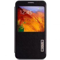 Samsung Galaxy Note 3 Bőrtok Vouni S-View Ablakos Fekete