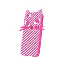 iPhone 7 Cuki Szilikon Tok Cica - Cat 3D Pink