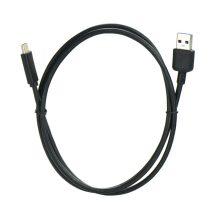 Type-C 3.0 USB 1 Méteres Töltő és Adatkábel Fekete