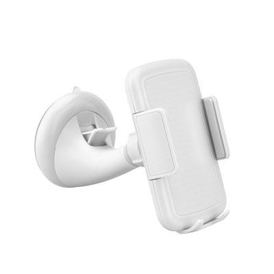 Univerzális Autós Tartó Szélvédőre Tapadókorongos 4'-5.5' - Forgatható Fehér