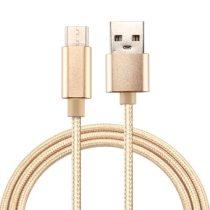 Type-C USB Kábel Woven Series Extra Anyagból ( 1 méteres ) Arany