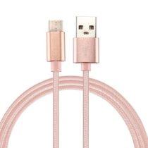 Type-C USB Kábel Woven Series Extra Anyagból ( 0.5 méteres ) Rózsaarany