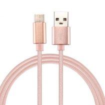 Type-C USB Kábel Woven Series Extra Anyagból ( 2 méteres ) Rózsaarany