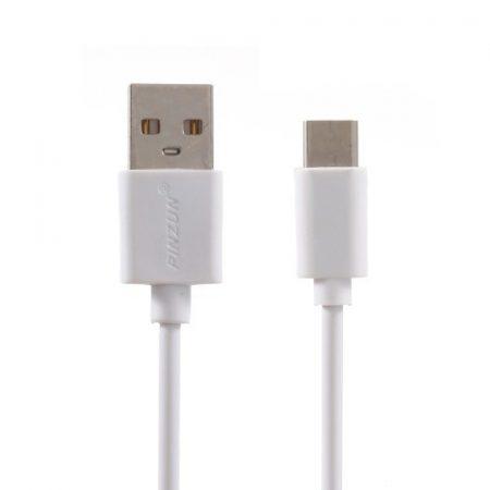 Pinzun 2 Méteres Type C USB Kábel Töltő-Szinkronizáló Fehér