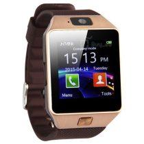 DZ09 Okosóra Smart Watch SIM - Bluetooth - Kamera - Facebook,Twitter,SMS értesítés Arany/Barna
