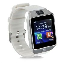 DZ09 Okosóra Smart Watch SIM - Bluetooth - Kamera - Facebook,Twitter,SMS értesítés Ezüst/Fehér