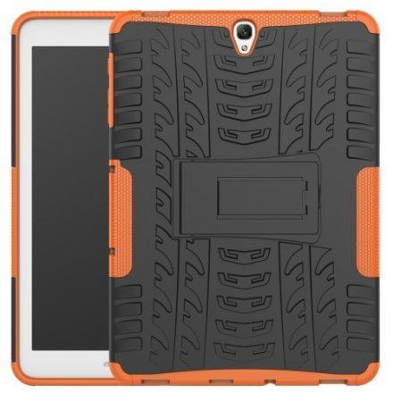 Samsung Galaxy TAB S3 9.7 Armor Tok Ütésálló - Csúszásgátló Forma - 2in1 Tyre Series Narancssárga