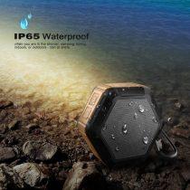 Zenelejátszó - Hangszóró HEXAGON Shape IP65 Bluetooth Ütésálló Narancssárga
