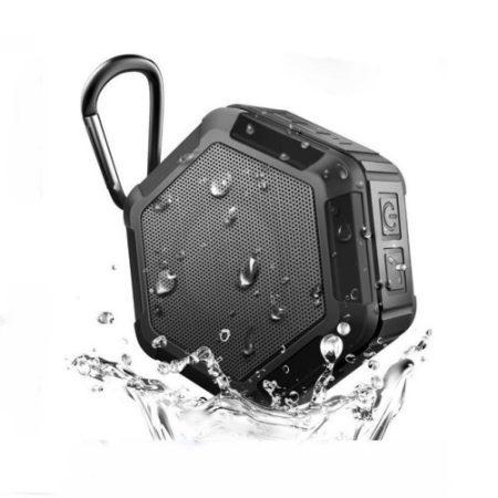 Zenelejátszó - Hangszóró HEXAGON Shape IP65 Bluetooth Ütésálló Fekete