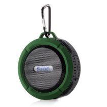 Zenelejátszó - Hordozható Hangszóró C6 IP65 Bluetooth Zöld