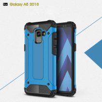 Samsung Galaxy A8 (2018) Armor Tok Ütésálló Kivitel 2in1 Hybrid Világoskék