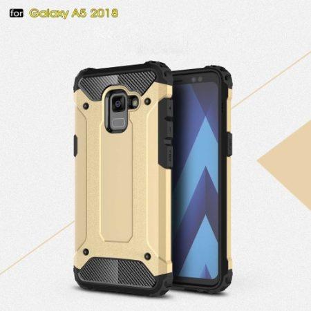 Samsung Galaxy A8 (2018) Armor Tok Ütésálló Kivitel 2in1 Hybrid Arany