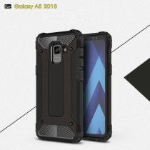 Samsung Galaxy A8 (2018) Armor Tok Ütésálló Kivitel 2in1 Hybrid Fekete