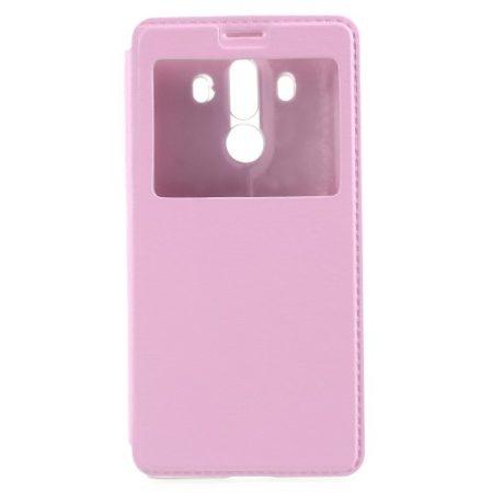 Huawei Mate 10 Pro Ablakos Tok View Window Style Rózsaszín