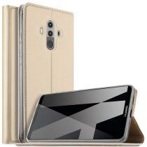 Huawei Mate 10 Pro Notesz Tok Mágneses Kitámasztható Arany
