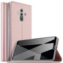 Huawei Mate 10 Pro Notesz Tok Mágneses Kitámasztható Rózsaarany