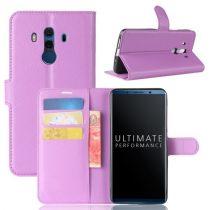 Huawei Mate 10 Pro Notesz Tok Bankkártyatartóval Business Series Lila