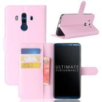 Huawei Mate 10 Pro Notesz Tok Bankkártyatartóval Business Series Rózsaszín