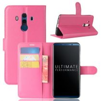 Huawei Mate 10 Pro Notesz Tok Bankkártyatartóval Business Series Pink