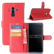 Huawei Mate 10 Pro Notesz Tok Bankkártyatartóval Business Series Piros