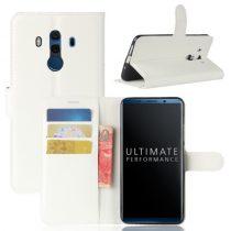 Huawei Mate 10 Pro Notesz Tok Bankkártyatartóval Business Series Fehér