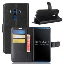 Huawei Mate 10 Pro Notesz Tok Bankkártyatartóval Business Series Fekete