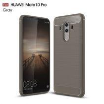 Huawei Mate 10 Pro Szilikon Tok Szálcsiszolt Karbon Mintázattal Szürke