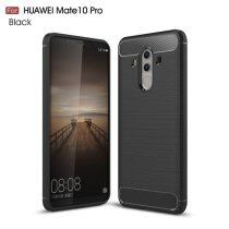 Huawei Mate 10 Pro Szilikon Tok Szálcsiszolt Karbon Mintázattal Fekete