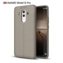 Huawei Mate 10 Pro Tok Szilikon Bőr Mintázattal Szürke