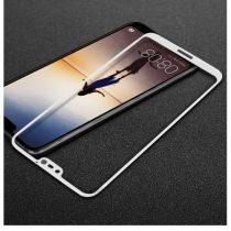 Huawei P20 Lite Tempered Glass IMAK Képernyővédő Üveg FULL 3D Fehér