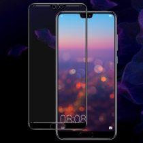 Huawei P20 Pro IMAK Tempered Glass - Kijelzővédő Üveg FullSize Fekete 3D