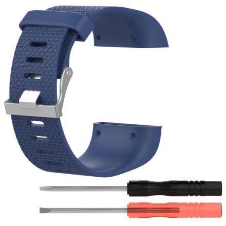 Fitbit Surge Szilikon Óraszíj - Pótszíj ( L ) 10+13 ) Méret Sötétkék
