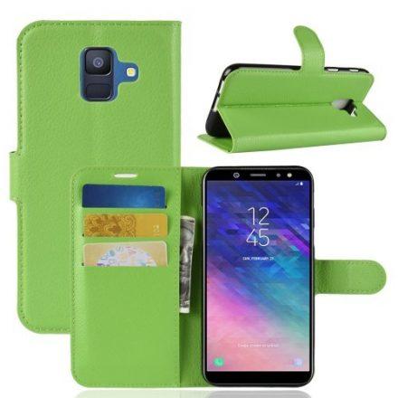 Samsung Galaxy A6 (2018) Notesz Tok Business Series Kitámasztható Bankkártyatartóval Zöld