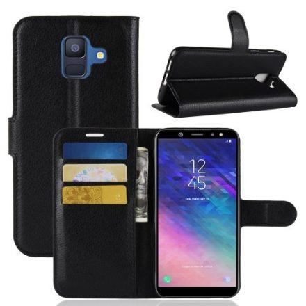 Samsung Galaxy A6 (2018) Notesz Tok Business Series Kitámasztható Bankkártyatartóval Fekete