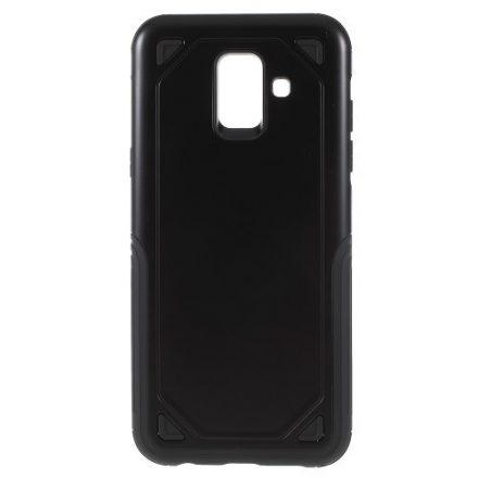 Samsung Galaxy A6 (2018) Tok Ütésálló Armor Rugged Series 2in1 Csúszásgátlóval Fekete