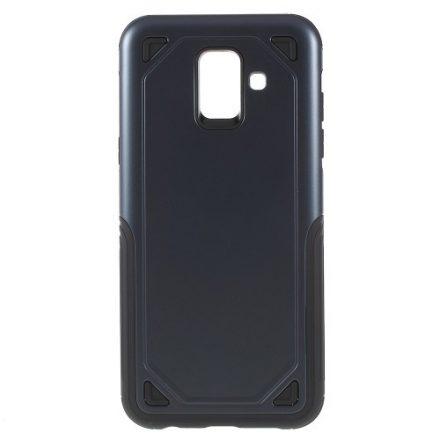 Samsung Galaxy A6 (2018) Tok Ütésálló Armor Rugged Series 2in1 Csúszásgátlóval Sötétkék
