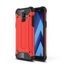 Samsung Galaxy A6 (2018) Hybrid Armor Tok Ütésálló 2in1 Guard Series Piros