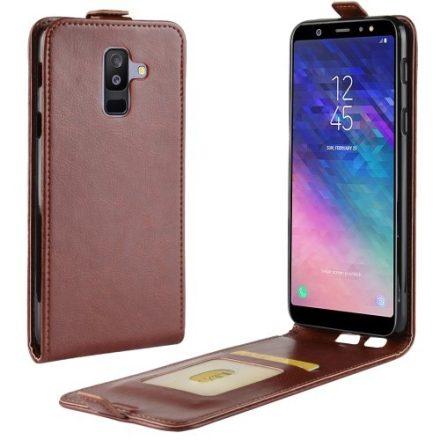 Samsung Galaxy A6+ (2018) Flip Tok Mágneses Barna