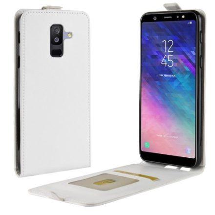Samsung Galaxy A6+ (2018) Flip Tok Mágneses Fehér