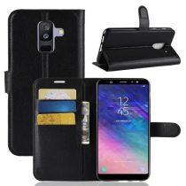 Samsung Galaxy A6+ (2018) Tok Notesz Business Bankkártyatartóval Kitámasztható Fekete