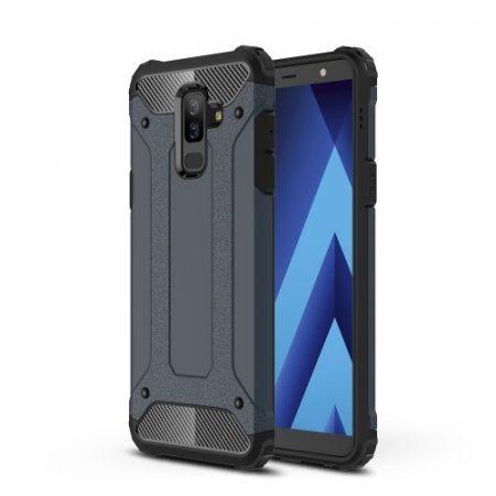 Samsung Galaxy A6+ (2018) Ütésálló Armor Tok Guard Series 2in1 Sötétkék