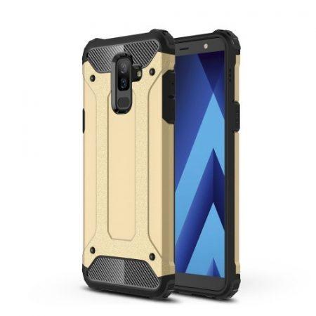 Samsung Galaxy A6+ (2018) Ütésálló Armor Tok Guard Series 2in1 Arany